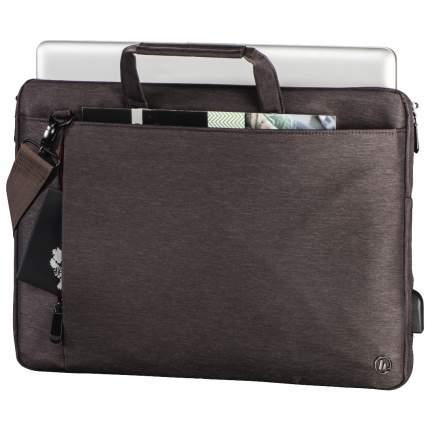"""Сумка для ноутбука 17.3"""" Hama Manchester коричневая"""