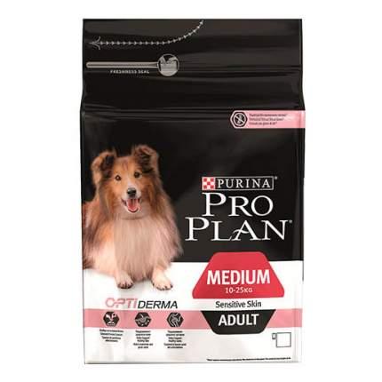 Сухой корм для собак PRO PLAN OptiDerma Medium Adult, для средних пород, лосось, 14кг