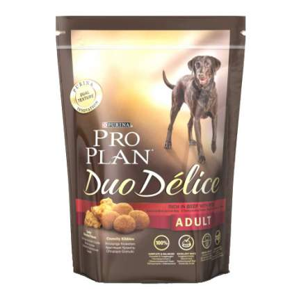 Сухой корм для собак PRO PLAN Duo Delice Adult, говядина и рис, 10кг