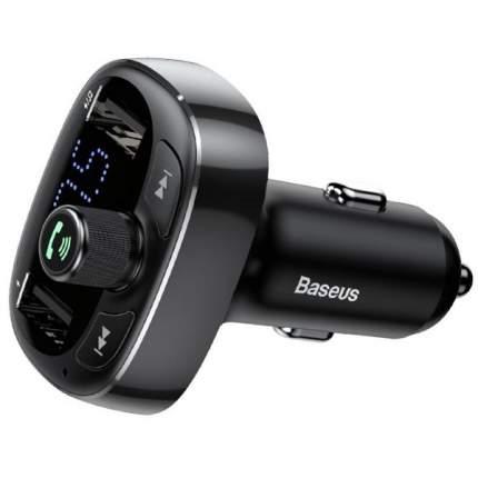 Автомобильное ЗУ 2xUSB Baseus T typed Bluetooth MP3 - Черное (CCALL-TM01)