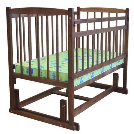 Кроватка детская Беби 4, маятник поперечный, без ящика, цвет: орех