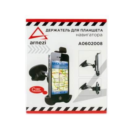 Держатель телефона/навигатора 108-135мм на лобовое стекло/панель черный ARNEZI A0602008