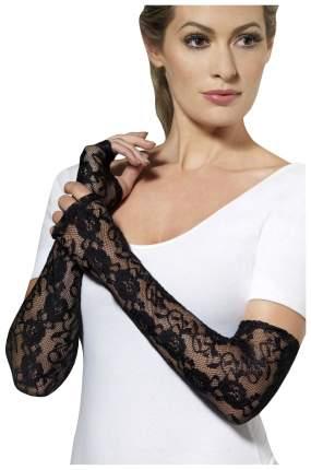 Кружевные длинные перчатки с открытыми пальчиками Fever