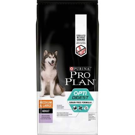 Сухой корм для собак PRO PLAN OptiDigest Medium & Large Adult Grain Free, индейка, 12кг