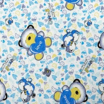 Одеяло-покрывало трикотажное Карапуз голубой 140х200