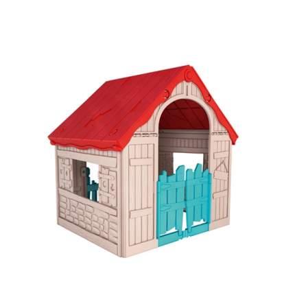 Игровой дом Keter складной бежевый-красный