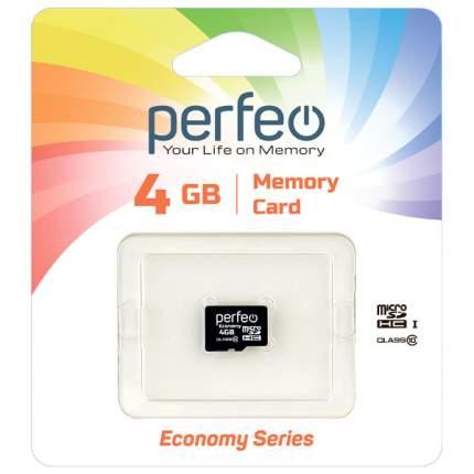 Карта памяти Perfeo microSD 4GB High-Capacity (Class 10) без адаптера economy series