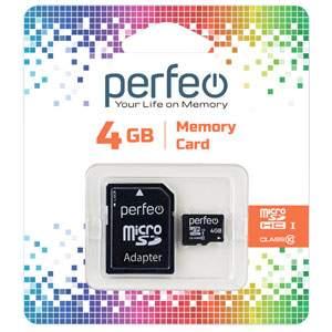 Карта памяти Perfeo microSD 4GB High-Capacity (Class 10)