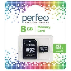 Карта памяти Perfeo microSD 8GB High-Capacity (Class 10)