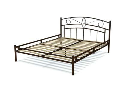 Кровать ГайваМебель Арго металлическая Венге сталь, Сталь, Венге сталь, 1600х2000 мм