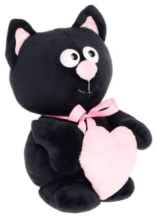 """Мягкая игрушка """"Котик с сердцем"""", цвет чёрный, 30 см Princess Love"""