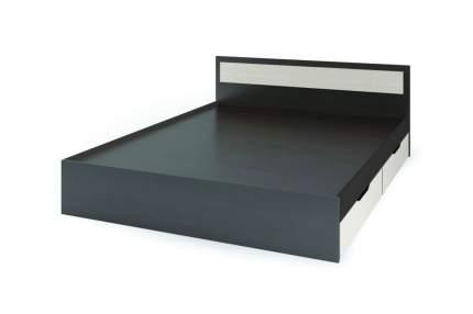 Кровать Стендмебель Гармония с ящиками Дуб белфорт, ЛДСП, Венге, 1400х2000 мм, КР 605