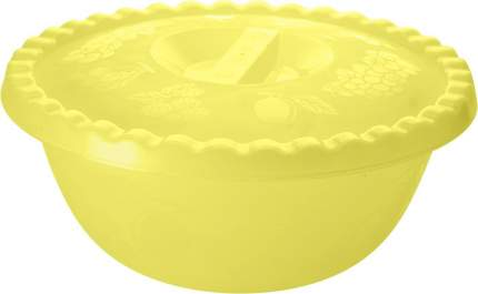 "Миска ""Фазенда"" 6 л с крышкой желтый прозрачный"