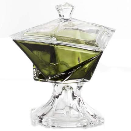 Конфетница с крышкой Crystalite Bohemia Оригами 16см