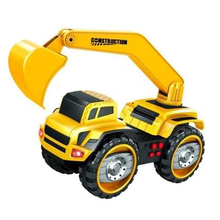 Фрикционный автомобиль Handers Большие колёса. Экскаватор, 37 см, 4WD, свет, звук