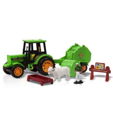 Фрикционная игрушка Трактор с прицепом. Посевные работы