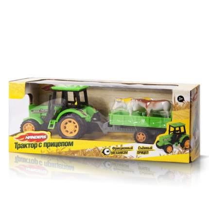 Фрикционная игрушка Трактор с прицепом. Перевозка животных