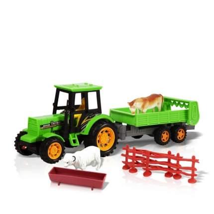 Фрикционная игрушка Трактор с прицепом. Животные на ферме