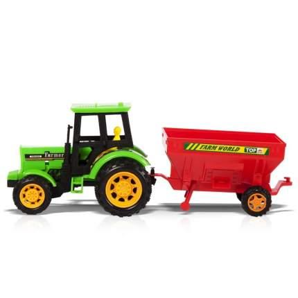 Фрикционная игрушка Трактор с прицепом. Дорожные работы