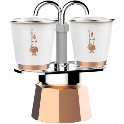 Набор Bialetti Bicchierini кофеварка мини экспресс на 2 порции и 2 чашки