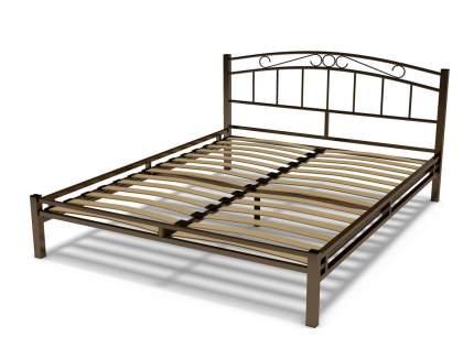 Кровать ГайваМебель Виола металлическая 1.6 Венге сталь, Сталь, Венге сталь, 1600х2000 мм