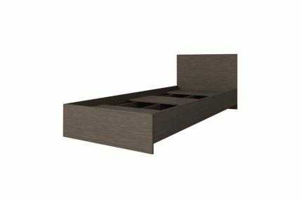 Кровать Интерьер-Центр Ронда КР-080 Ясень Шимо темный, 800х2000 мм