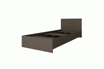 Кровать Интерьер-Центр Ронда КР-080 Венге цаво, ЛДСП, Венге цаво, 800х2000 мм