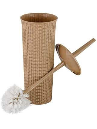 Комплект WC ажурное плетение AJUR Кофейный