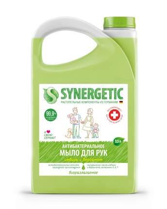 """Жидкое мыло SYNERGETIC """"Имбирь и бергамот"""" антибактериальное, с эффектом увлажнения, 3,5л"""