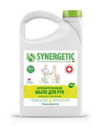 """Жидкое мыло SYNERGETIC """"Мелисса и ромашка"""" антибактериальное, с эффектом увлажнения, 3,5л"""