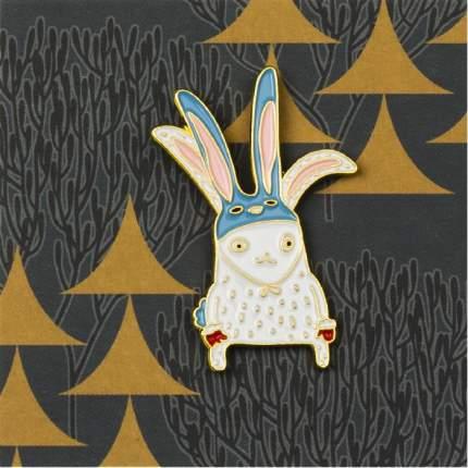 Значок Студия Артемия Лебедева Зайка-зайка голубой