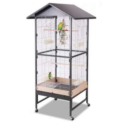 Клетка для малых птиц Montana Villa Casa 75,  65x75x180, Antik-Platinum