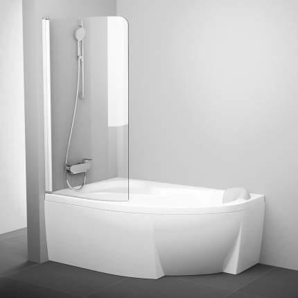 Шторка для ванны Ravak CVSK1 Rosa 140/150 L белая+транспарент, 7QLM0100Y1