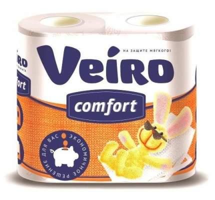 Туалетная бумага Veiro Comfort белая двухслойная