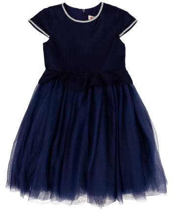 Платье для девочек Button Blue, цв. синий, р-р 146