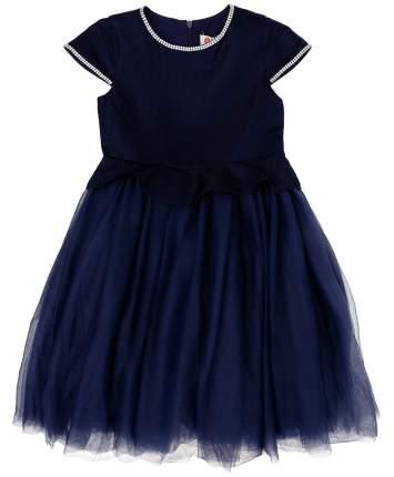 Платье для девочек Button Blue, цв. синий, р-р 140