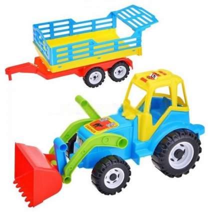 Трактор Фермер, сеновоз с ковшом