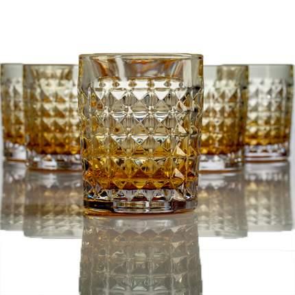 Набор стаканов для виски Crystalite Bohemia Диаманд 230мл, 6 шт