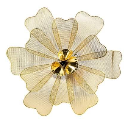 Настенный декор Гарда Декор Цветок золотистый 47,6x45,7x7,0см