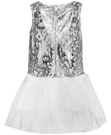 Платье для девочек Button Blue, цв. серебристый, р-р 122