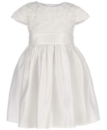 Платье для девочек Button Blue, цв. белый, р-р 98