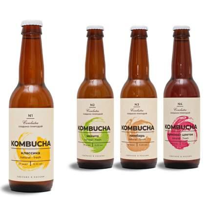 Напиток газированный Комбуча Combutea ассорти 4х0,33л