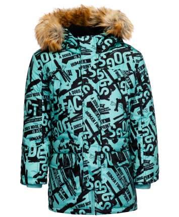Пальто для мальчиков Button Blue, цв. зеленый, р-р 98