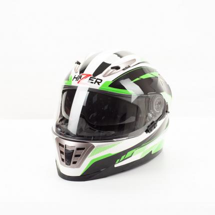 Шлем HIZER B599 white/green, размер M