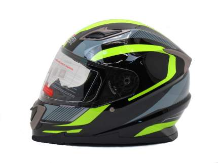 Шлем HIZER B562 black/yellow, размер M