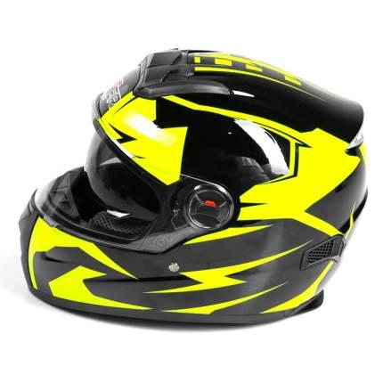 Шлем HIZER B561 black/yellow, размер L