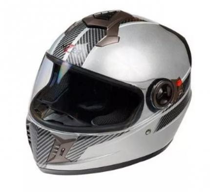 Шлем HIZER 528 silver, размер L