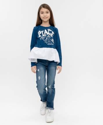Футболка для девочек Button Blue, цв. синий, р-р 104