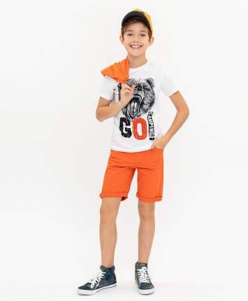 Футболка для мальчиков Button Blue, цв. белый, р-р 158