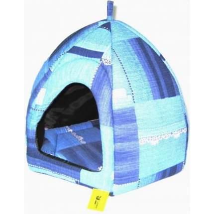 Домик для кошек Usond Вигвам №1 (бязь), синий, 39x45x43см